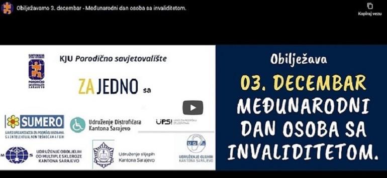 Video povodom 3. decembra Međunarodnog dana OSI