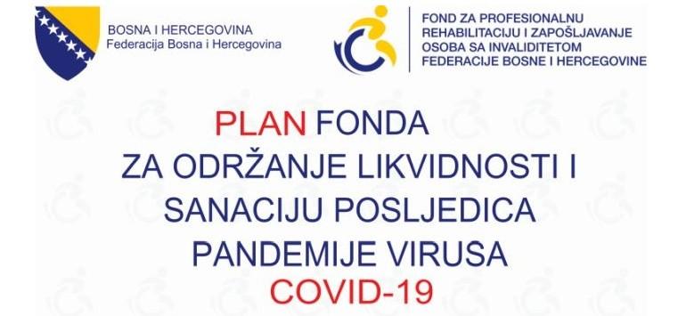 PLAN FONDA ZA PROFESIONALNU REHABILITACIJU I ZAPOŠLJAVANJE OSI U VEZI VIRUSA COVID-19