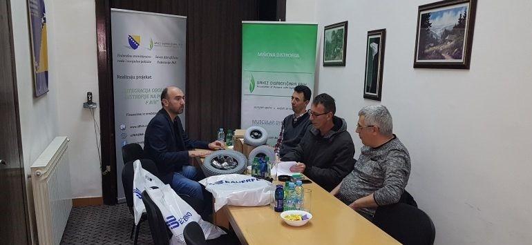 Predstavnici Udruženja distrofičara USK posjetili Savez distrofičara F BiH